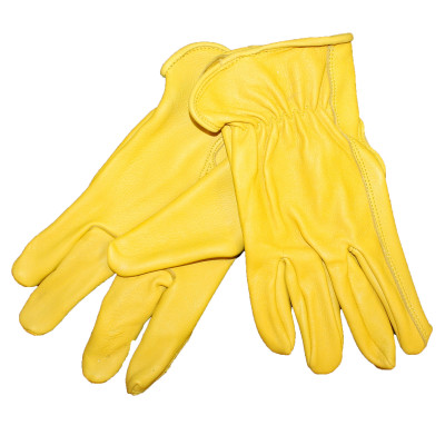 MEN'S DEERSKIN GOLD GLOVES - WORK GRADE (TWO PAIR)