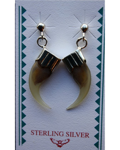 Lynx Claw Cap Earrings