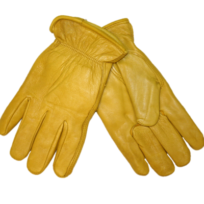 MEN'S DEERSKIN INSULATED GLOVES - GOLD