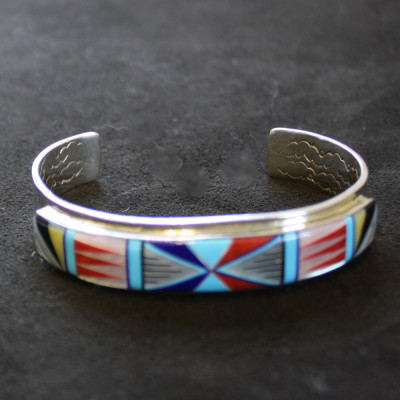 Ornamental Inlay Cuff Bracelet