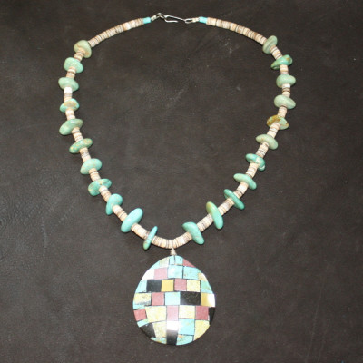 Mosiac Shell Inlay Necklace