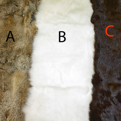 RABBIT FUR BLANKETS / PLATES - THREE COLORS