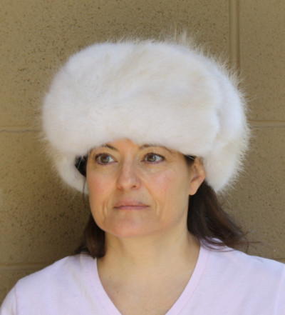 MOONLIGHT BEAVER FUR RUSSIAN TROOPER HAT