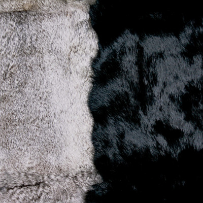 RABBIT FUR BLANKETS / PLATES - TWO COLORS