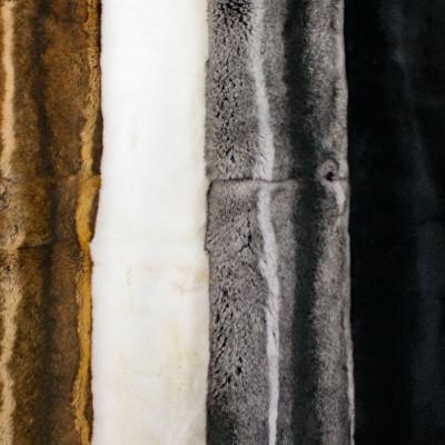 REX RABBIT FUR BLANKETS / PLATES - FOUR COLORS