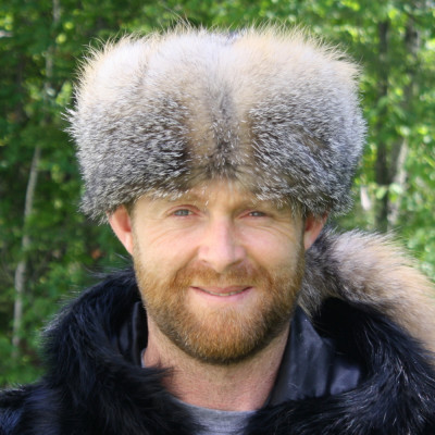 GRAY FOX FUR DANIEL BOONE HAT