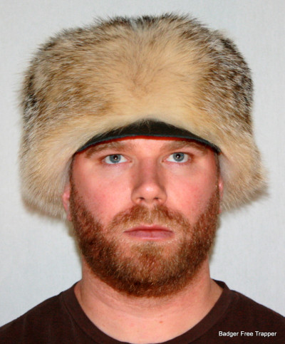 BADGER FUR FREE TRAPPER HAT