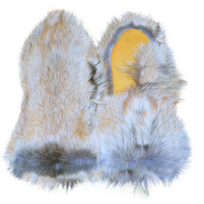 RED COYOTE FUR MITTENS