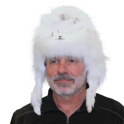 ARCTIC FOX FUR MOUNTAIN MAN HAT