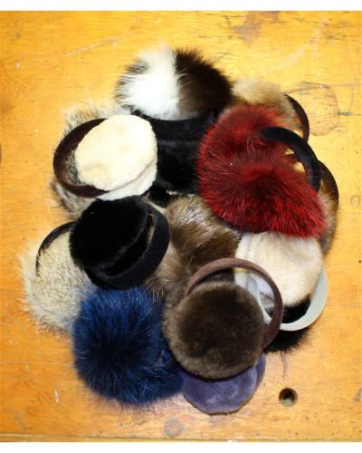 1 Dozen Assorted Fur Ear Muffs