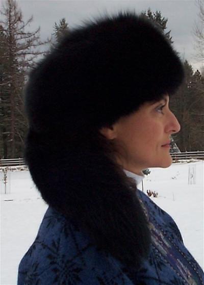 BLACK DYED BLUE FOX VOGUE HAT