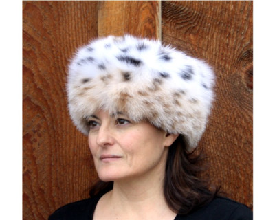 BOBCAT FUR PILL BOX HAT