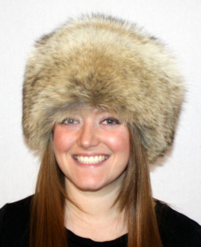 COYOTE FUR PILL BOX HAT