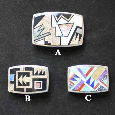 Micro Inlay Stone Belt Buckle