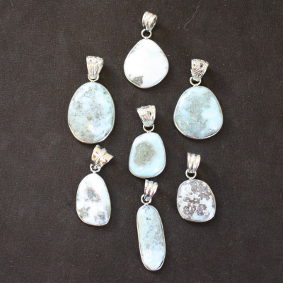 Unique Larimar Pendants