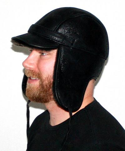 GENUINE SHEARLING SHEEPSKIN VISOR HAT