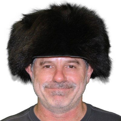 BLACK BEAR FUR FREE TRAPPER HAT