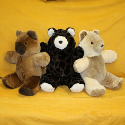 SHEARED BEAVER FUR TEDDY BEARS