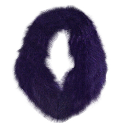 BLUE FOX FUR DETACHABLE COLLAR - PURPLE-DYED