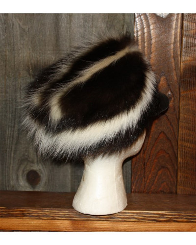 SKUNK FUR FREE TRAPPER HAT