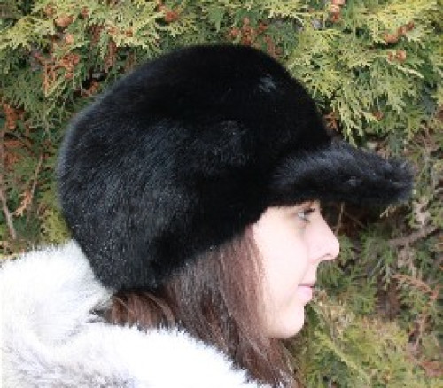 black mink fur baseball cap amal clooney hat lined ball