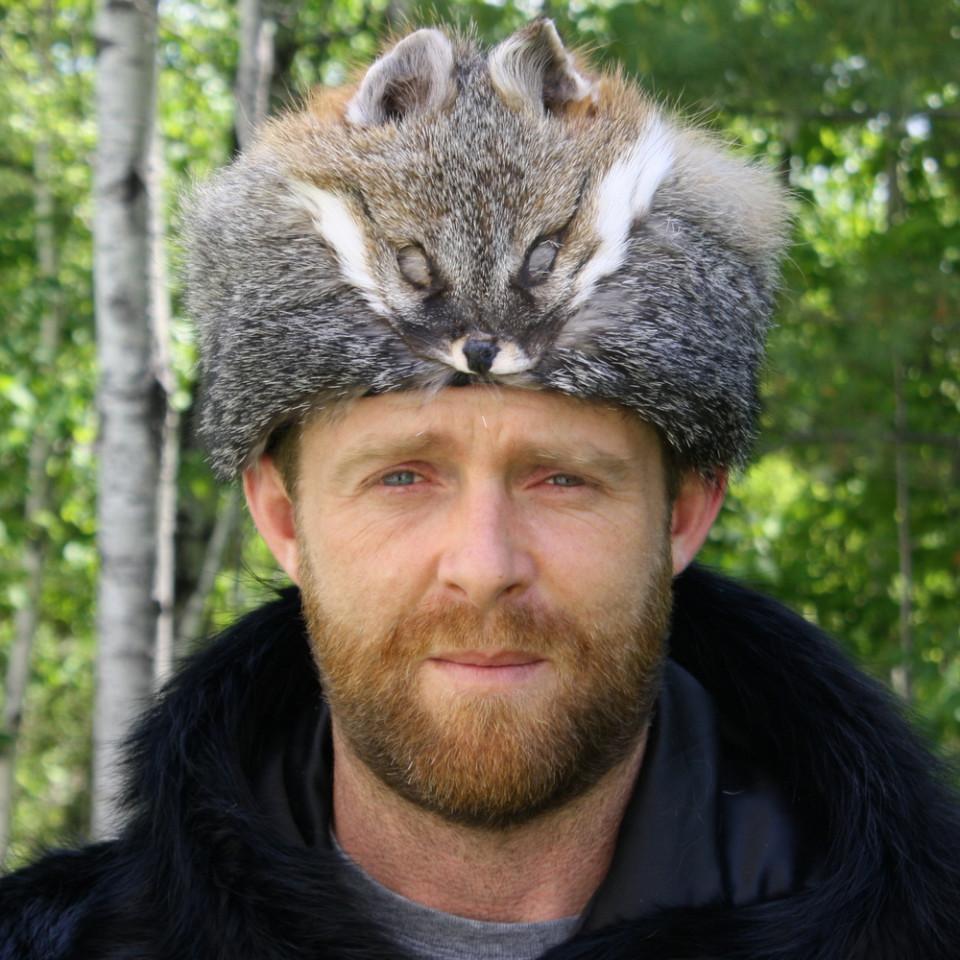 Glacier Wear Gray Fox Davy Crockett Fur Hat For Sale