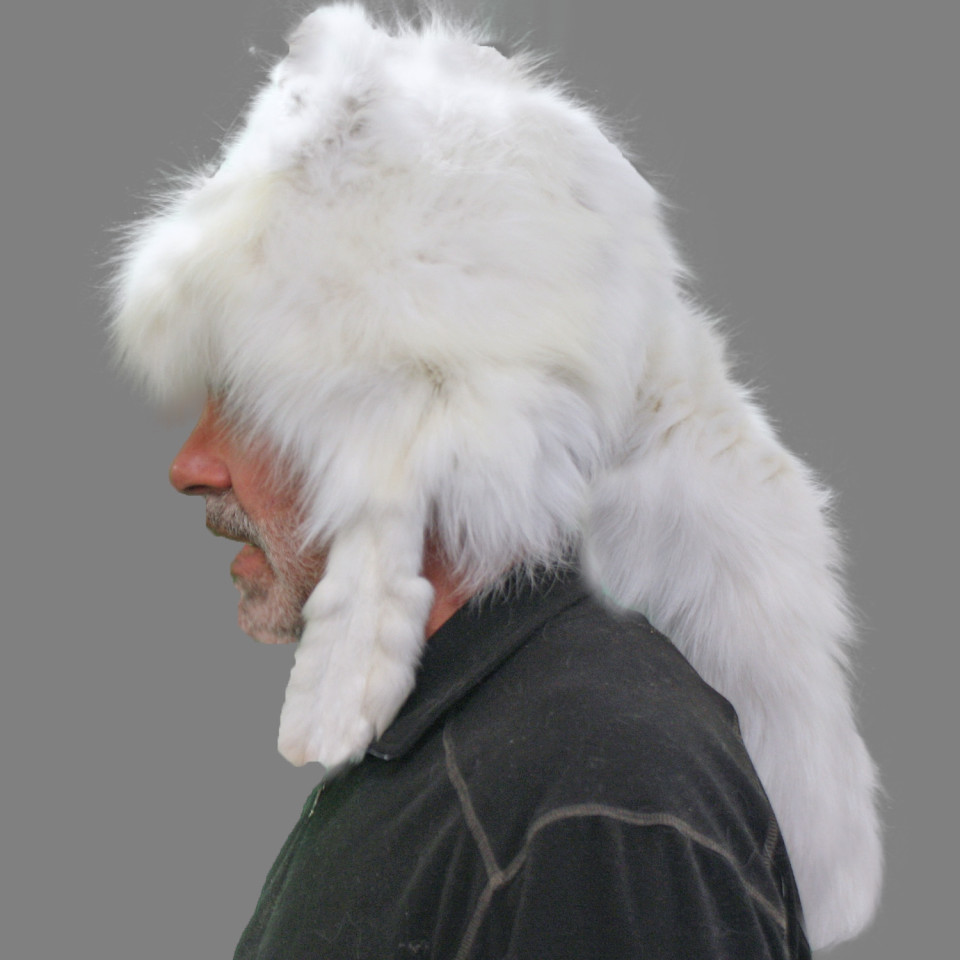 Glacier Wear Arctic Fox Mountain Man Style Fur Hat For Sale