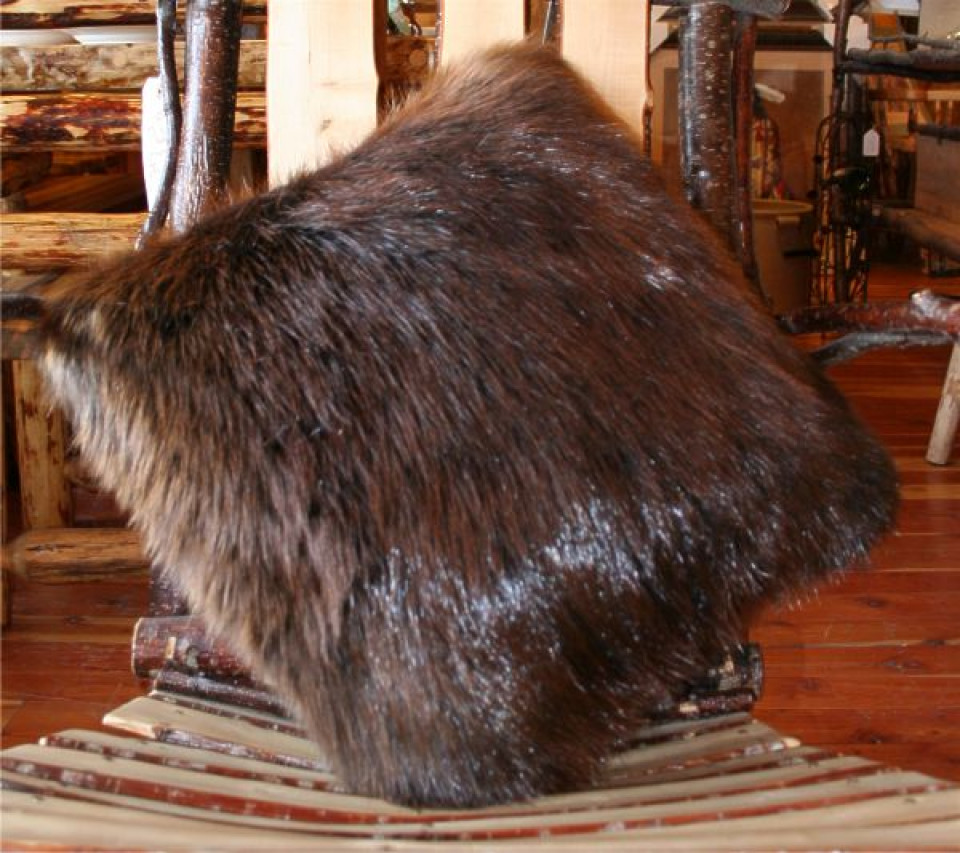Glacier Wear Double Sided Natural Beaver Fur Pillows For