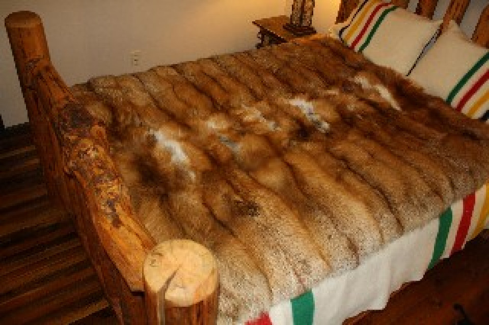 Glacier Wear Red Fox Fur Blanket 60 Quot X 72 Quot For Sale