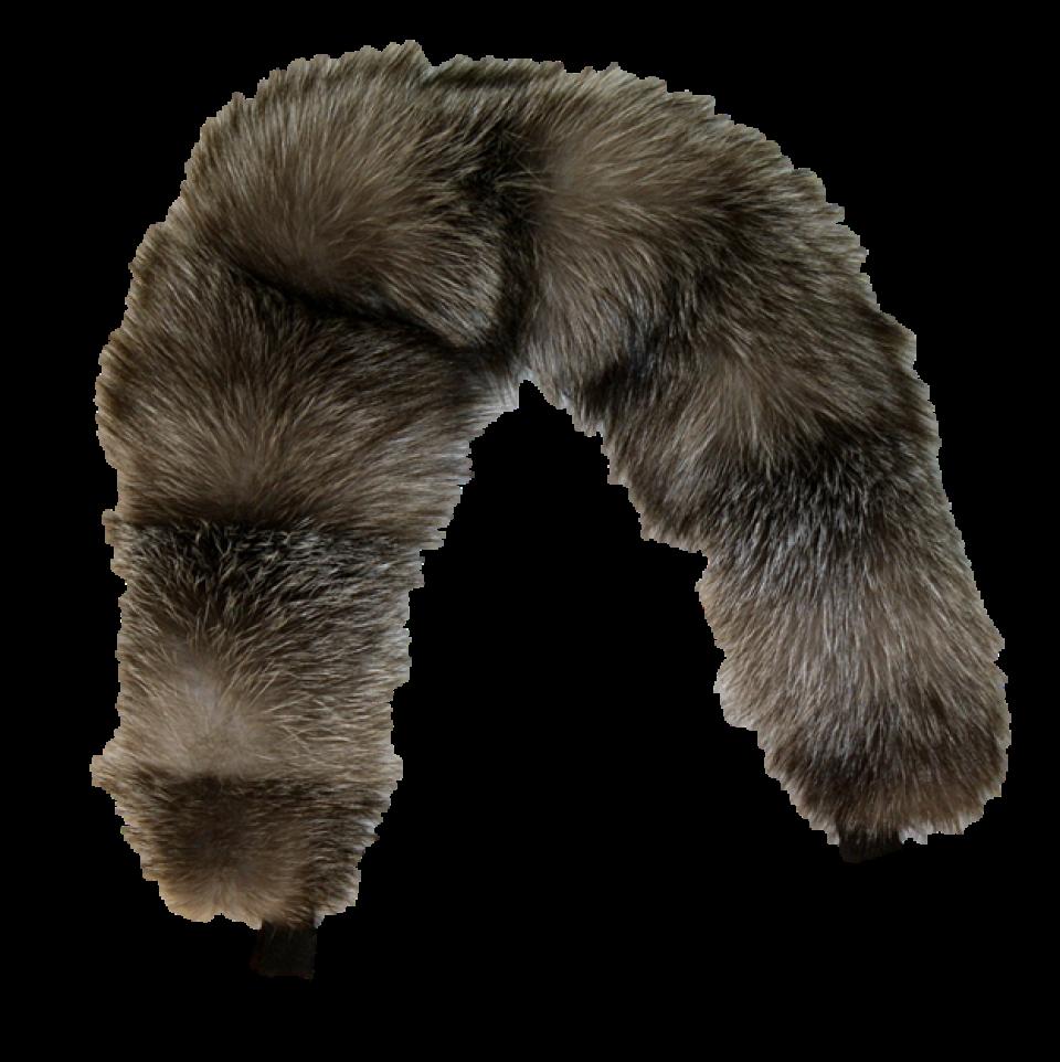 Blue Frost Fox Fur Ruff For Sale