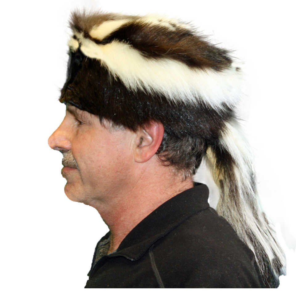 Skunk Fur Hat and Cap for Sale from Crockett Coonskin Caps ...