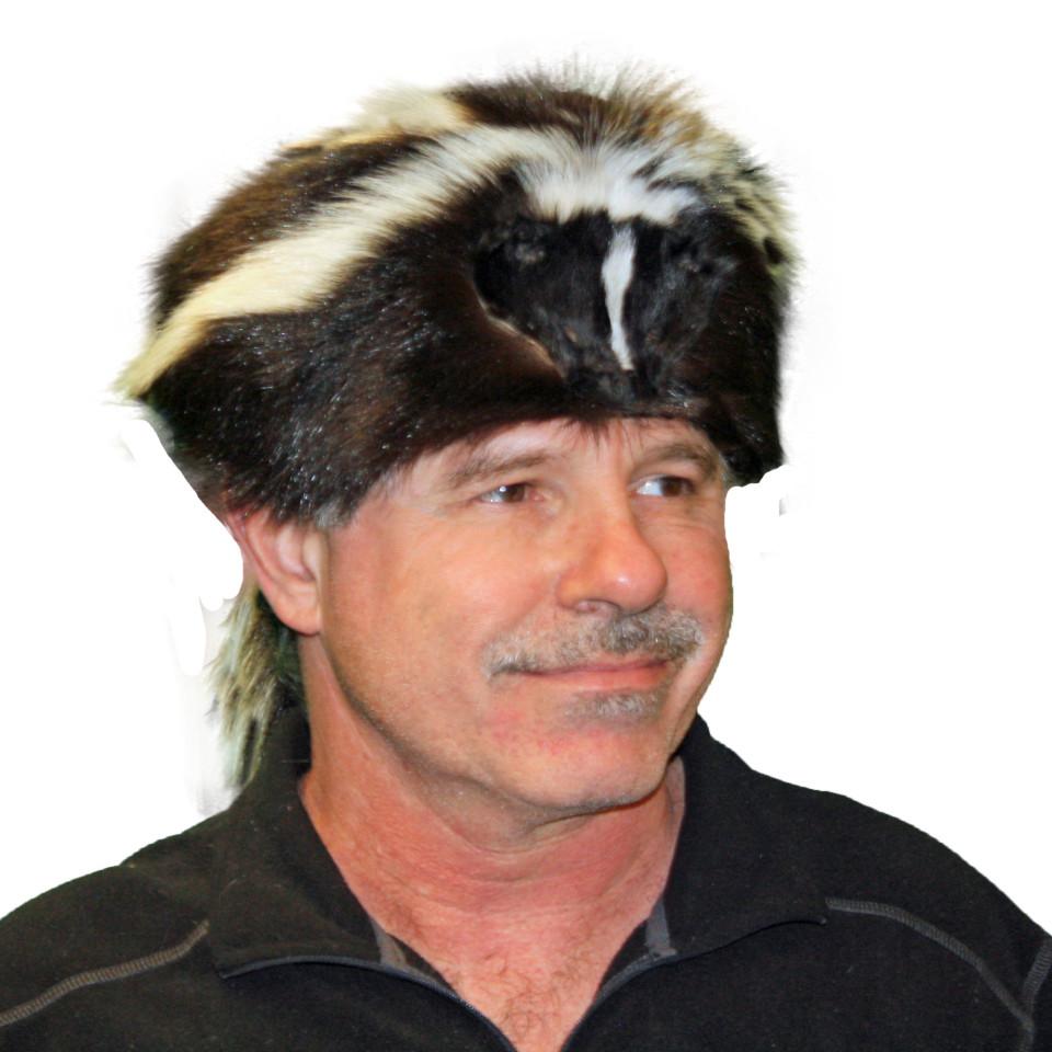 Glacier Wear Skunk Davy Crockett Style Fur Hat For Sale