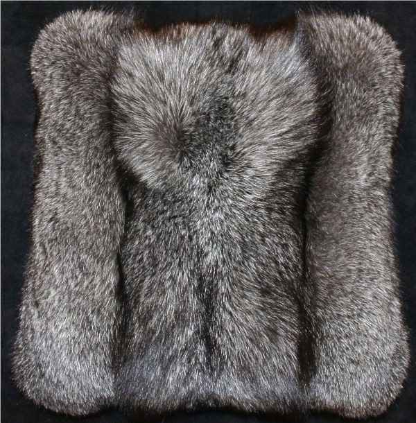 3a2b0ca882a Glacier Wear - Blue Frost Fox Fur Pillow For Sale