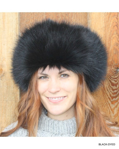 BLACK RACCOON FUR RUSSIAN TROOPER STYLE HAT