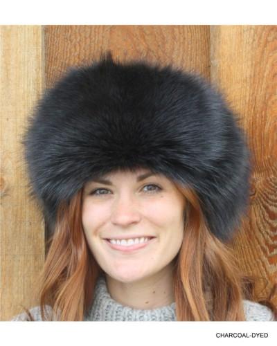 CHARCOAL RACCOON FUR RUSSIAN TROOPER STYLE HAT