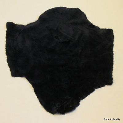BEAVER PELT - DYED BLACK, SHEARED
