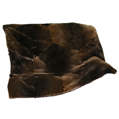 "NATURAL PLUCKED & SHEARED BEAVER FUR THROW BLANKET 48"" x 60"""