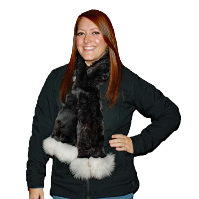 REX RABBIT FUR SCARF #4031