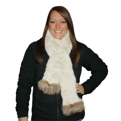 REX RABBIT FUR SCARF #4033