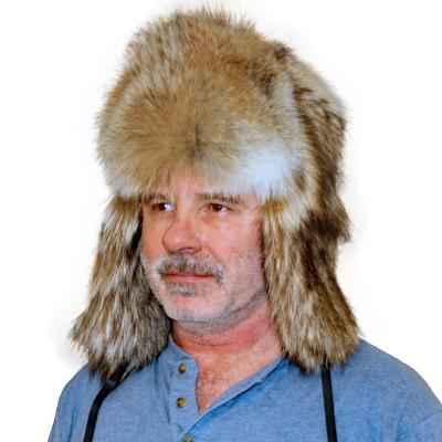 COYOTE FUR RUSSIAN TROOPER STYLE HAT