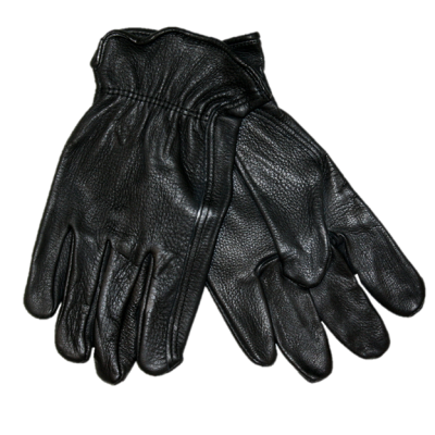 MEN'S DEERSKIN GLOVES - BLACK
