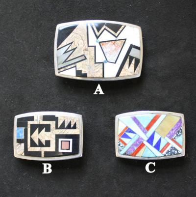 Micro Inlay Stone Belt Buckle