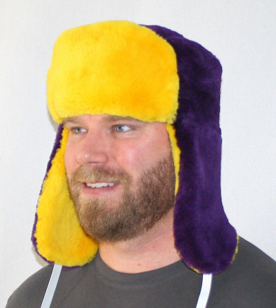 MINNESOTA VIKINGS FUR TROOPER STYLE HAT