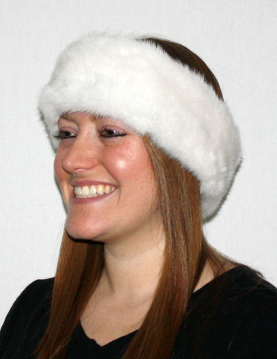 WHITE MINK FUR HEADBANDS | FUR NECK WARMER | FUR NECK COLLAR