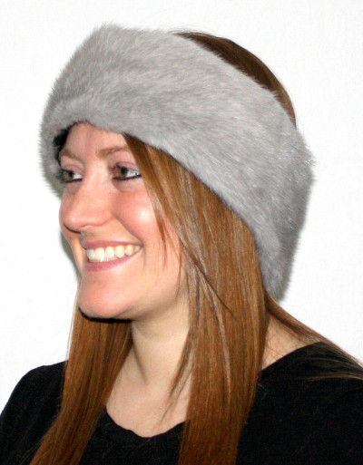 SAPPHIRE MINK FUR HEADBANDS/NECK WARMERS-COLLARS