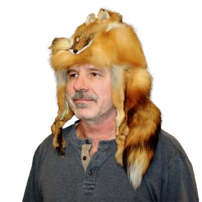 RED FOX FUR MOUNTAIN MAN HAT