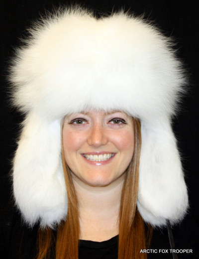 ARCTIC FOX FUR RUSSIAN TROOPER STYLE HAT