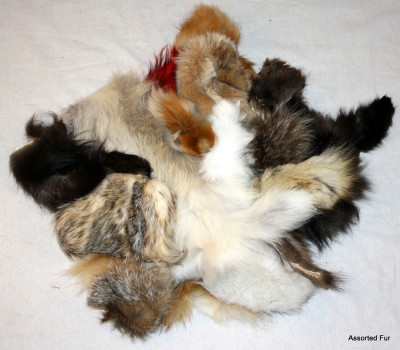ASSORTED FUR TRIMMINGS/SCRAPS