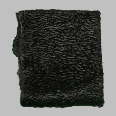 RABBIT FUR BLANKETS / PLATES - BLACK CARVED