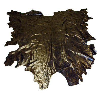 COW LEATHER - SHINY BLACK (TWO)